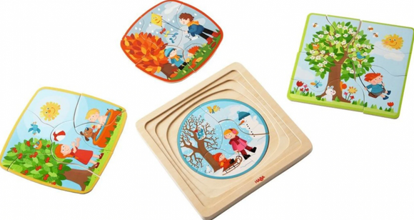 4-in-1 Wooden Puzzle My Time of Year