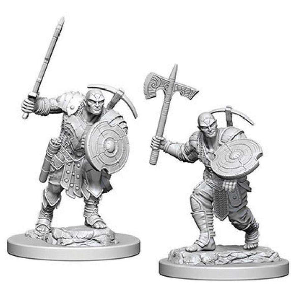 D&D Nolzur's Marvelous Miniatures: Earth Genasi Male Fighter