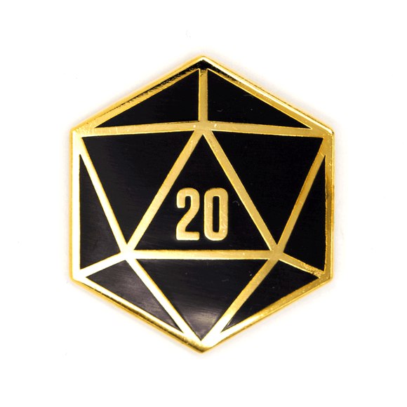 These Are Things - D20 Enamel Pin