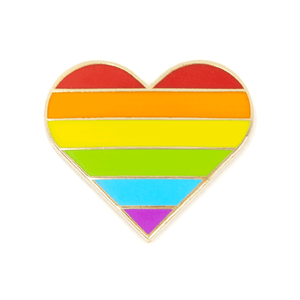 These Are Things - Rainbow Pride Heart Enamel Pin