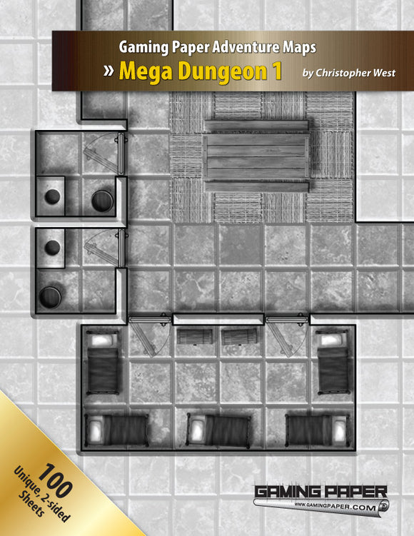 Gaming Paper Mega Dungeon 1