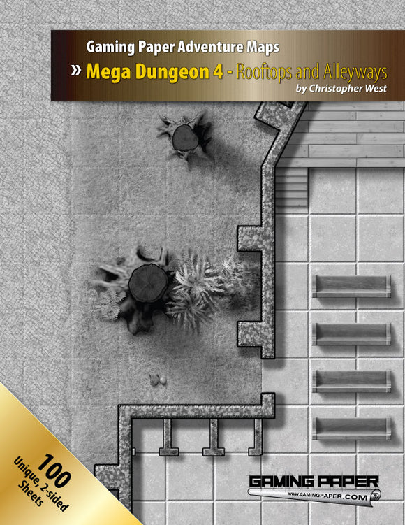 Gaming Paper Mega Dungeon 4: Rooftops and Alleyways
