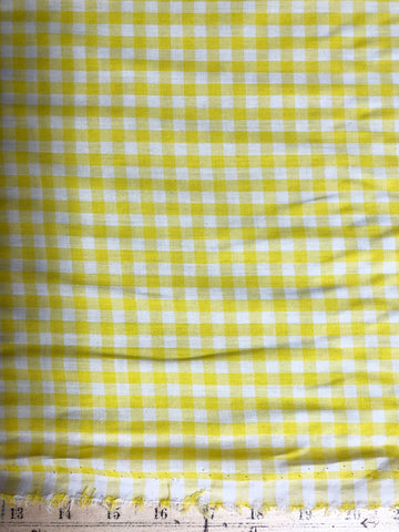 Yellow Gingham 1/4""