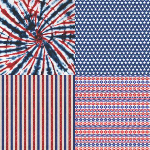 Patriotic STICKY back vinyl