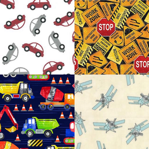 "45"" Vehicle and Construction Cotton Prints"