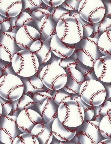 Baseball Cotton Print