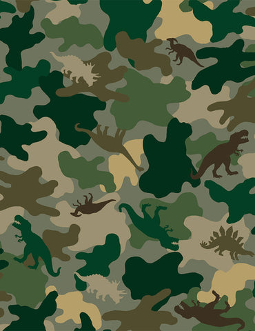 Timeless Treasures Camo Dinos