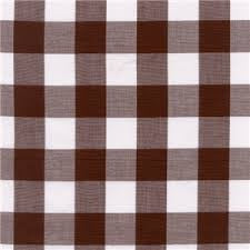 "60"" 1"" Brown Gingham Check"
