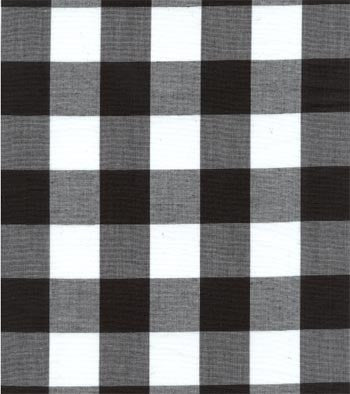 "60"" 1"" Black Gingham Check"