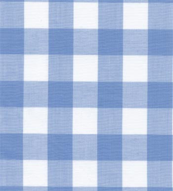 "60"" 1"" Blue Gingham Check"