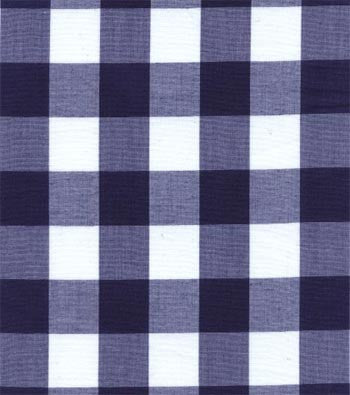 "60"" 1"" Navy Gingham Check"