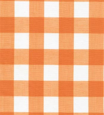 "60"" 1"" Orange Gingham Check"