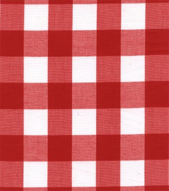 "60"" 1"" Red Gingham Check"