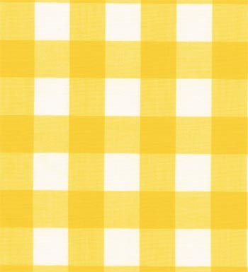 "60"" 1"" Yellow Gingham Check"