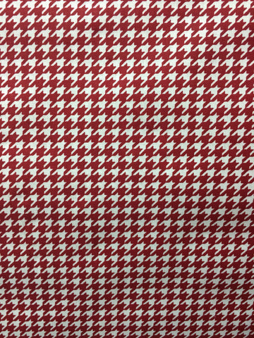 "90"" Crimson Houndstooth"