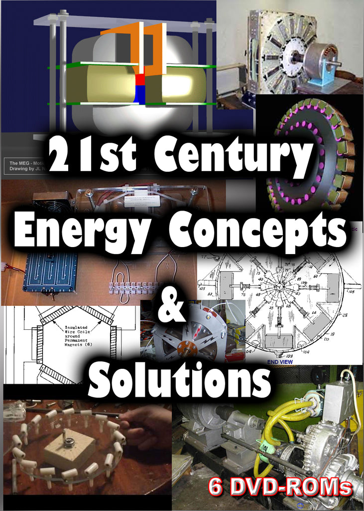21st Century Energy Concepts - Overunity and Alternative Energy -  free energy 6 DVD-ROM box set