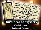Third  Seal of Mystery - Seal of Love- from the 6th & 7th Books of Moses high resolution printed on 24# Parchment 4 sizes, 19 copies total; pendant