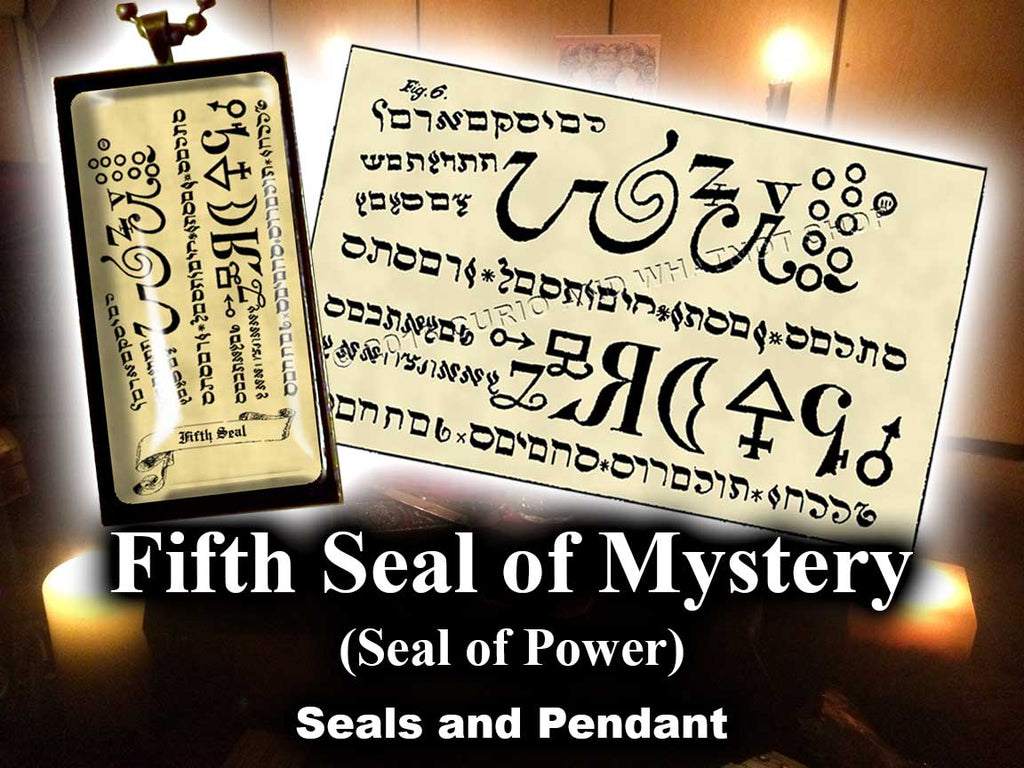 Fifth  Seal of Mystery - Seal of Power - from the 6th & 7th Books of Moses high resolution printed on 24# Parchment 4 sizes, 19 copies total; pendant