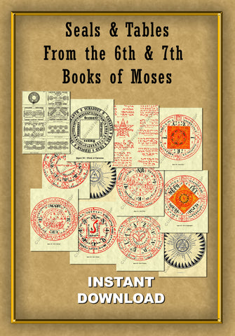 Seals & Tables from the 6th & 7th Books of Moses - Instant Download - Gene's Weird Stuff  - 1