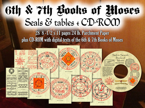 6th & 7th Books of Moses on CDROM + 28 pg of Seals & Tables - highest quality