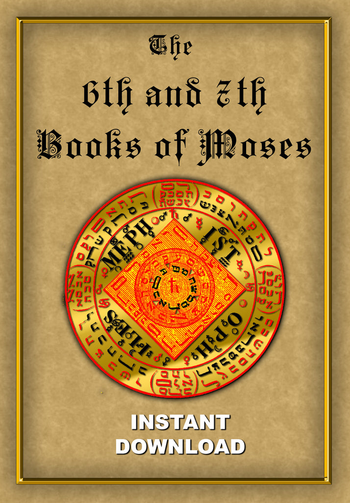 The: 6th & 7th Books of Moses - Instant Download - Gene's Weird Stuff