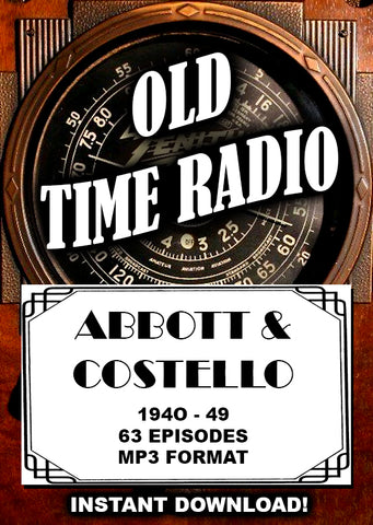 Abbot & Costello Old Time Radio comedy - Instant Download
