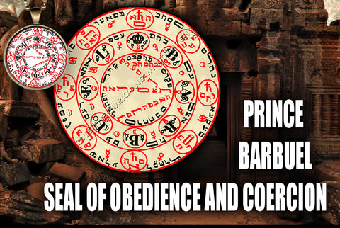 Prince Barbuel Seal of Obedience and Coercion from the 6th & 7th Books of Moses high resolution printed in color on 24# Parchment paper, 4 sizes, 19 copies total; matching pendant available.