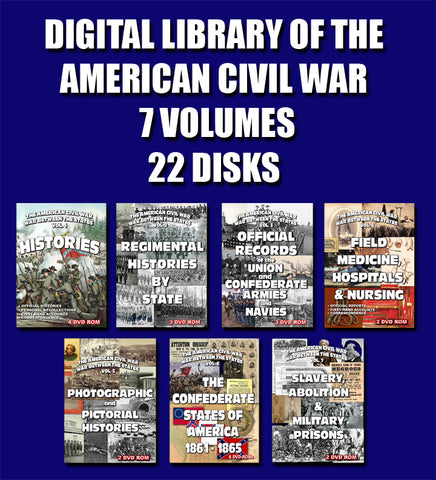 Digital Library of the American Civil War - 7 Volumes, 22 disks