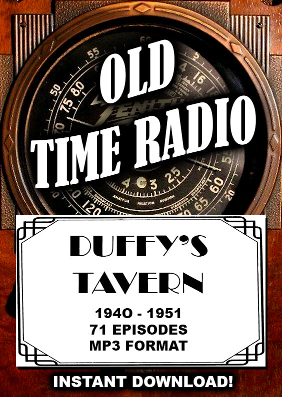 Duffy's Tavern - Old Time Radio comedy - Instant Download