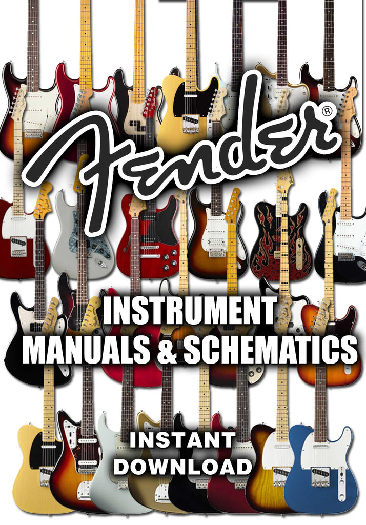 Fender Instruments - Manuals & Schematics - luthier tool - instant download