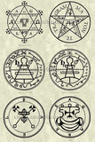 Printable Seals of the Spirits from the Goetia - instant download - Gene's Weird Stuff  - 2