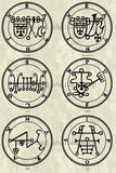 Printable Seals of the Spirits from the Goetia - instant download - Gene's Weird Stuff  - 6