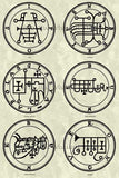 Printable Seals of the Spirits from the Goetia - instant download - Gene's Weird Stuff  - 7