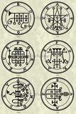Printable Seals of the Spirits from the Goetia - instant download - Gene's Weird Stuff  - 8