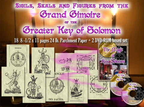 Grand Grimoire of Solomon 9 pg sigils & seals + 2 DVD-ROM boxed Solomonic Texts