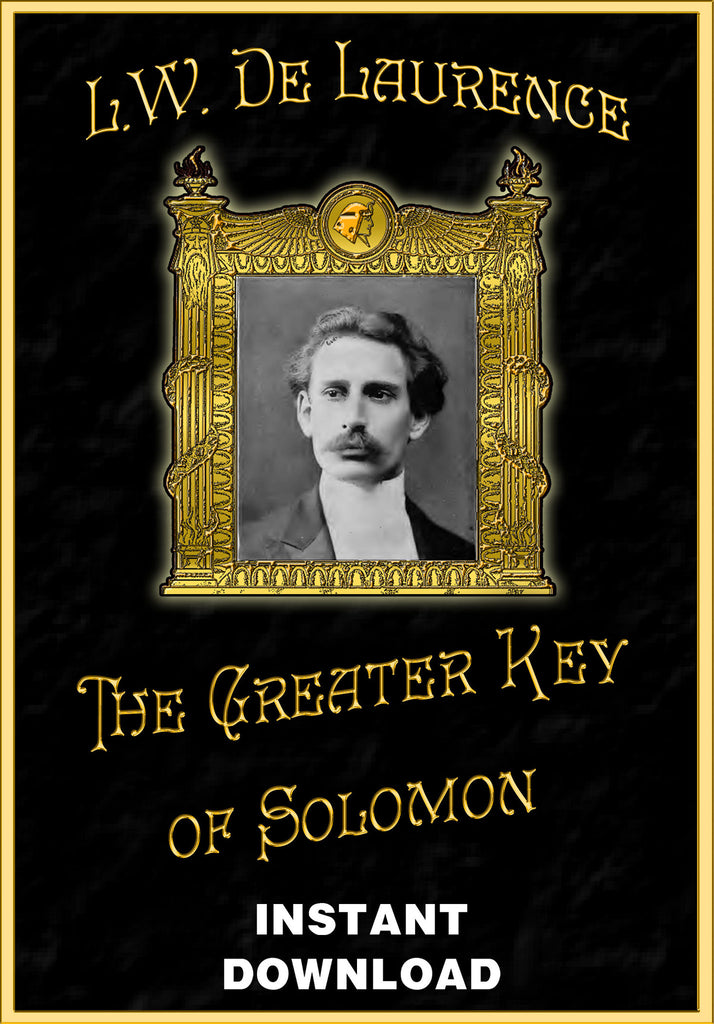 The Greater Key of Solomon -The Book of Evil Spirits - ed. by L.W. deLaurence - Instant Download - Gene's Weird Stuff