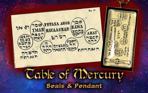 Planetary Seal of Mercury from the 6th & 7th Books of Moses high resolution printed on 24# Parchment 4 sizes, 19 copies total; pendant