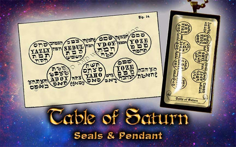Planetary Seal of Saturn from the 6th & 7th Books of Moses high resolution printed on 24# Parchment 4 sizes, 19 copies total; pendant