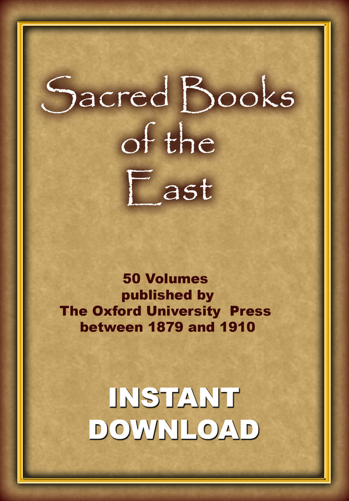Sacred Books of the East 50 Volumes - Instant Download - Gene's Weird Stuff