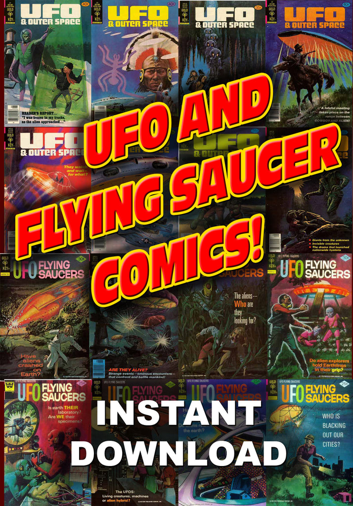UFO & Flying Sauceer Comics - Instant Download - Gene's Weird Stuff