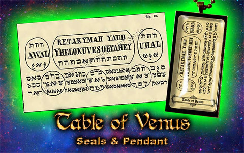 Planetary Seal of Venus from the 6th & 7th Books of Moses high resolution printed on 24# Parchment 4 sizes, 19 copies total; pendant