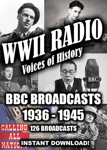 WWII BBC Newscasts 1936 - 1945 - 128 Broadcasts - Old Time Radio - Instant Download