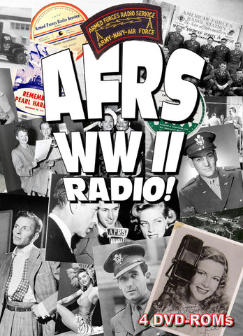 AFRS WW II Radio Shows & V-Disks - mp3, 4 DVD-ROM - Old Time Radio