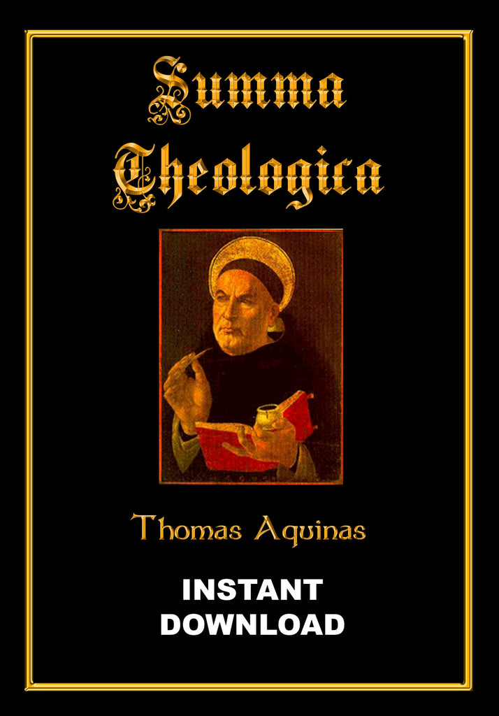 Summa Theologica - Thomas Aquinas, Doctor of the Church - Instant Download - Gene's Weird Stuff
