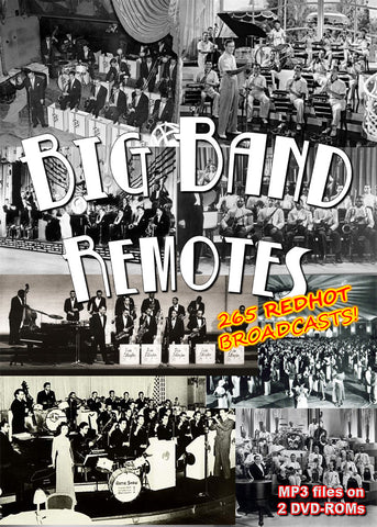 Big Band Remote Broadcasts - mp3 on 2 DVD-ROMs boxed