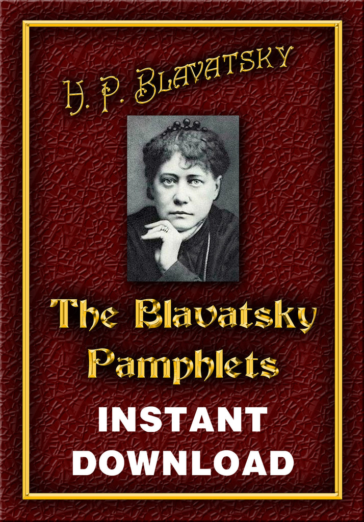 The Blavatsky Pamphlets - Blavatsky, H.P. -  Instant Download - Gene's Weird Stuff