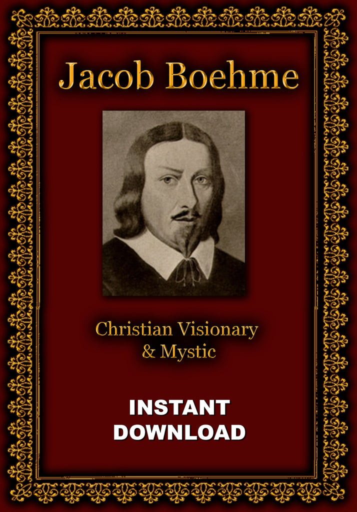 Jacob Boehme - Christian Visionary & Mystic- Instant Download - Gene's Weird Stuff