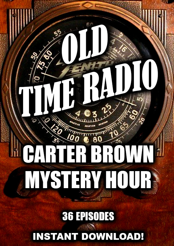 Carter Brown Mystery Hour - 36 Episodes - Old Time Radio from Australia - Instant Download