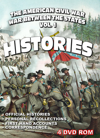 The American Civil War Vol 1: Histories - 4 DVD-ROM boxed 895 files