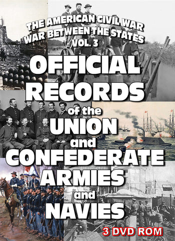 The American Civil War Vol 3: Official Records of the Union & Confederate Armies &  Navies 3 DVD-ROM boxed